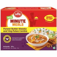 MTR Ready To Eat Paneer Butter Masala & Pulao - 375 Gm (13.22 Oz) - 1 unit