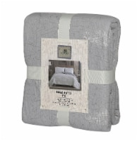 Denim Trading Post Needle & Pine Acid Wash Quilt Set - 3 Piece - Gray - King