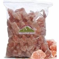Himalayan Glow Pink Salt Chunks, Natural & Kosher, Himalayan Salt Crystal Rock Bag | 10 Lbs - 1 count