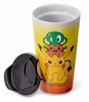 Pokémon XY Series Travel Mug | Pikachu, Dedenne, & Squishy | Holds 16 Ounces