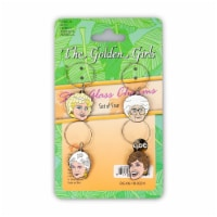 Golden Girls Wine Charms, Set of 4 - Set of 4