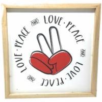 TX USA Corporation Wooden Love Peace Finger Sign Decorative Wall Art - 1 unit