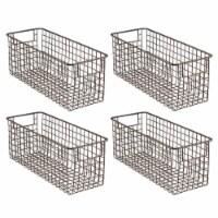 mDesign Metal Wire Food Storage Organizer Bin