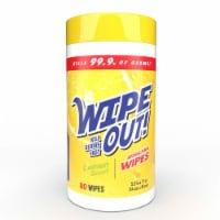 Wipe Out! Antibacterial Lemon Wipes 80 Count