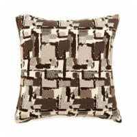 Concrit Contemporary Pillow, Small Set of 2, Brown - 1 unit
