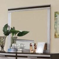 Saltoro Sherpi Wooden Square Frame Mirror, Silver & Espresso Brown - 1 unit