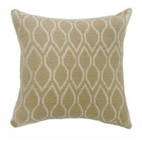 Saltoro Sherpi MAE Contemporary Small Pillow With Fabric, Beige Finish, Set of 2 - 1 unit