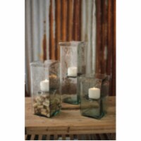 Square Candle Hurricane -  Large 6X6X19 - 1