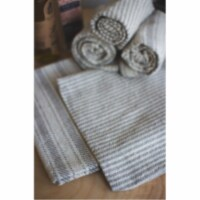 Set Of 6 Grey Cotton Napkins - 3 Each Design Approx 22  X 22 - 1