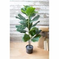 Artificial Fiddle Leaf Fig In A Pot 38 T - 1