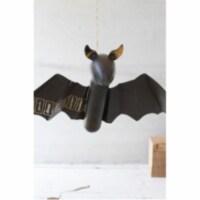 Recycled Metal Hanging Bat 12  X 22  X 4 T - 1