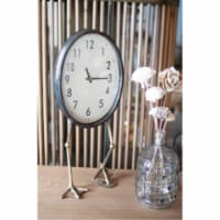 Table Clock With Duck Feet. Takes One Aa Battery (Not Included) 8.5  X 21 T - 1