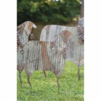 Set Of 3 Corrugated Metal Christmas Sheep Yard Art Largest 32  X 41 T - 1
