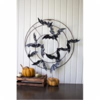 Painted Metal Bats Wall Hanging 22 D - 1
