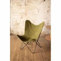 Velvet Butterfly Chair - Avocado 28.5  X 26  X 37 T - 1