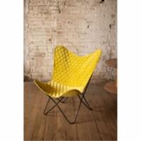 Velvet Butterfly Chair - Honey 28.5  X 26  X 37 T - 1