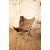 Velvet Butterfly Chair - Cobblestone 28.5  X 26  X 37 T - 1