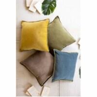Velvet Throw Pillow - Honey 24  X 24 T - 1