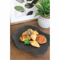 Black Lime With Rustic Edge Lazy Susan 18.5  X 15  X 2 T - 1