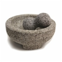 HealthSmart 8 Inch ranite Molcajete Set a Stylish Yet Durable Mortar  Pestle Set