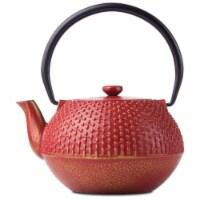 BNF KTCITPRED Chef Secret Cast Iron Tea Pot, Red