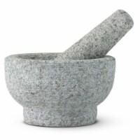 HealthSmart By MAXAM Gray Granite Mortar and Pestle