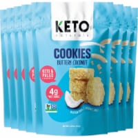 Keto Cookies Buttery Coconut with MCT (8 Packs) Low Carb Gluten Free Healthy Coconut Cluster - 8 packs