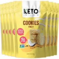 Keto Cookies Vanilla with MCT (8 Packs) Low Carb Gluten Free Healthy Coconut Cluster - 8 packs
