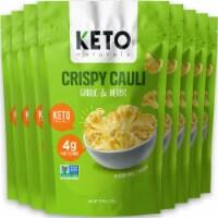 Cauliflower Chips Keto bites cauliflower Garlic & Herb (8 Packs) vegetable chips vegan - 8 packs