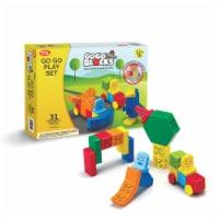 "Toys by People® - Go Go Blocks™ - Go Go Play Set 31 pc Magnetic Blocks - 14.6""x2.4""×11.2"""