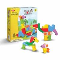"Toys by People® - Go Go Blocks™ - Go Go Animals 17 pc Magnetic Blocks - 11.4""x2.4""x12.6"""