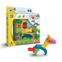 """Toys by People® - Go Go Blocks™ - Go Go Critters 6 pc Magnetic Blocks - 7.9""""×2""""×7.9"""""""