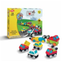 """Toys by People® - Go Go Blocks™ - Go Go Working Cars 18 pc Magnetic Blocks - 11.8""""×2""""x9.1"""""""