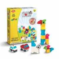"Toys by People® - Go Go Blocks™ - Go Go World 21 pc Magnetic Blocks - 10.2""x2.4""×13"""