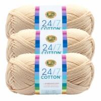 Lion Brand Yarn 761-098 24-7 Cotton Yarn Skeins - Ecru