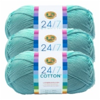 Lion Brand Yarn 761-102 24-7 Cotton Yarn Skeins - Aqua