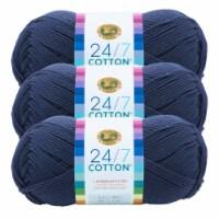 Lion Brand Yarn 761-110 24-7 Cotton Yarn Skeins - Navy