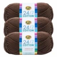 Lion Brand Yarn 761-126 24-7 Cotton Yarn Skeins - Cafe Au Lait