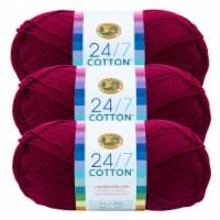 Lion Brand Yarn 761-144 24-7 Cotton Yarn Skeins - Magenta
