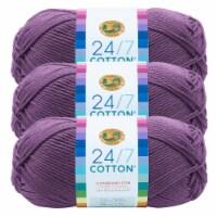 Lion Brand Yarn 761-147 24-7 Cotton Yarn Skeins - Purple