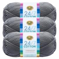 Lion Brand Yarn 761-149 24-7 Cotton Yarn Skeins - Silver