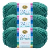 Lion Brand Yarn 761-178 24-7 Cotton Yarn Skeins - Jade