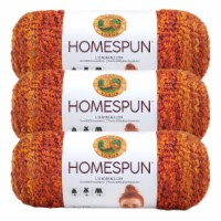 Lion Brand Yarn 790-408 Homespun Yarn Skeins - Wild Fire