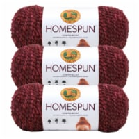 Lion Brand Yarn 790-436 Homespun Yarn Skeins - Claret