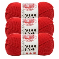 Lion Brand Yarn 620-102 Wool-Ease Yarn Skeins - Ranch Red
