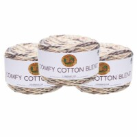 Lion Brand Yarn 756-712 Comfy Cotton Yarn Cakes - Chai Latte