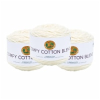 Lion Brand Yarn 756-098 Comfy Cotton Yarn Cakes - Whipped Cream - 3 pk
