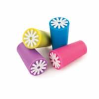 True 3118 bulk Starburst - Silicone Bottle Stoppers, Multi Color