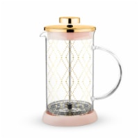 True Fabrications Glass Tea Press Pot - Riley Mini Souk Gold