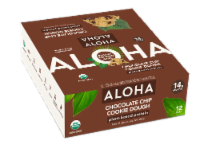 Aloha Organic Chocolate Chip Cookie Dough Plant-Based Protein Bar 12 Count